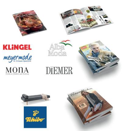 Kataloge von Hagen Grote, Klingel Gruppe, Tchibo und Peter Hahn